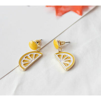 Cute Fruit Kiwi Banana Pineapple Lemon Earring Ear Stud