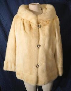 Gorgeous Vintage ZCMI FOUR CAMEO ROOM Blond or Champagne Mink Coat