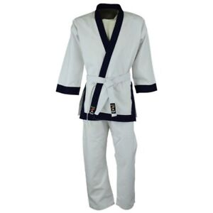 PENETRACIoN-Soo-Do-398ml-Peso-Pesado-UNIFORME-Dobok-GI-Media-Noche-Azul-o-negro