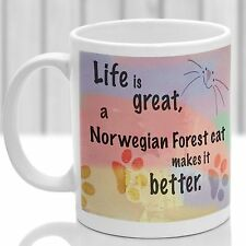 Norwegian Forest cat mug, Norwegian Forest cat gift, ideal for cat lover
