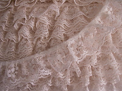 5Ya White Elastic Flower Lace Trims for Wedding Crafts Dress Sewing Applique