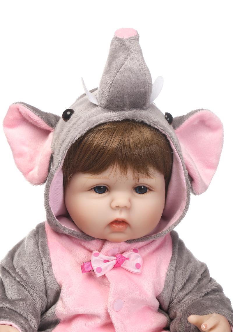 @Cute 16  Vinilo De Silicona Muñeca Reborn Bebé niñas realista birthdaygift hecho a mano