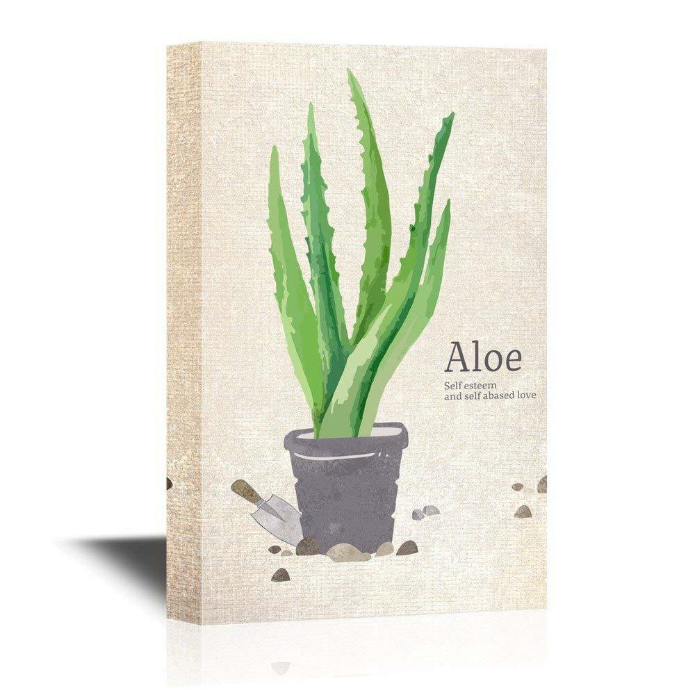 Wall26 - Painting Style Aloe in a Pot Gallery - CVS - 32  x 48
