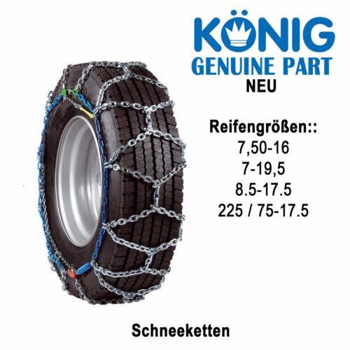 Schneeketten LKW Transporter Wohnmobile König 225//75-17.5 Neu 7.50-16