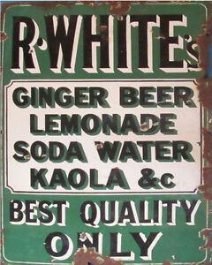 R-White-039-s-Lemonade-Vitage-ENAMEL-METAL-TIN-SIGN-WALL-PLAQUE