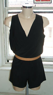 Baylis /& Knight Black Jersey BANDEAU MINI Shorts  Play Suit Playsuit Holiday