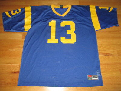 ce0f6100 Vintage Nike KURT WARNER No 13 ST LOUIS RAMS (2XL) Jersey | eBay