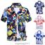 Mens-Hawaiian-T-Shirt-Summer-Floral-Printed-Beach-Short-Sleeve-Tops-Blouse-Hot thumbnail 5