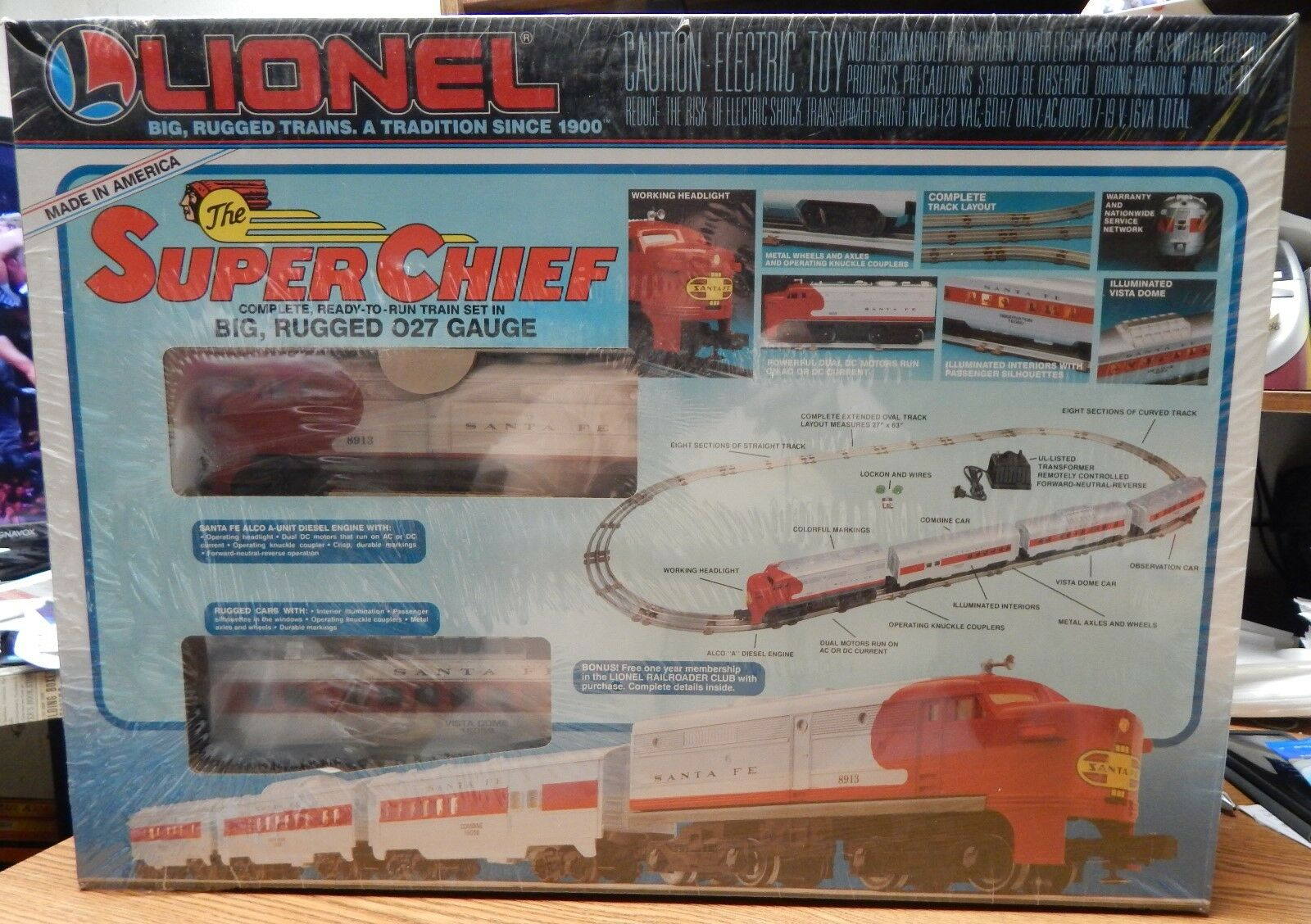 LIONEL 6-11739 THE SUPER CHEIF TRAIN SET NEW SEALED IN BOX O27 SCALE  LQQK
