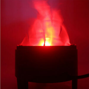 LED Fake Flame Torch Light Fire Pot Bowl Lamp Party Disco Home Decor Christmas