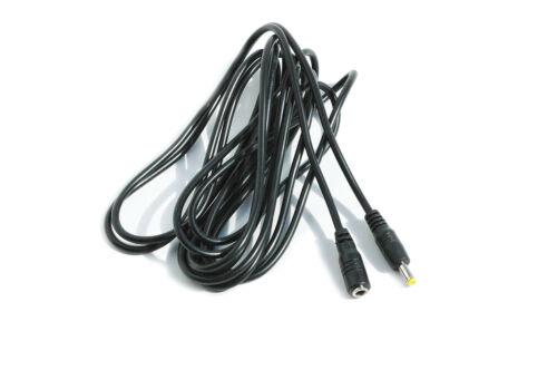 Extensión de 3m de largo Cable de alimentación cargador cable Negro para Panasonic HC-V250 Videocámara
