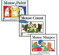 Mouse Paint,mouse Count & Mouse Shapes (hc) Ellen Stoll Walsh 3 Book Set