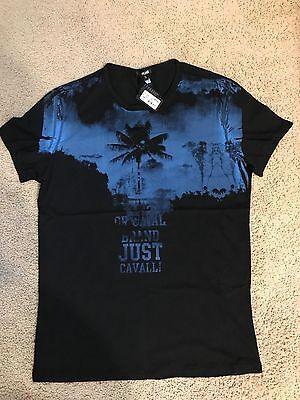 NWT Just Cavalli men's t shirt black XL