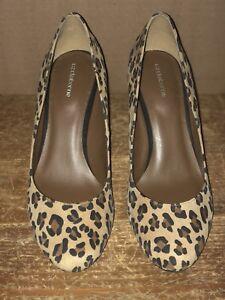 7808b6d4f1 Liz Claiborne Shoes 7 1/2 M Leather Leopard Animal Print High Heel ...