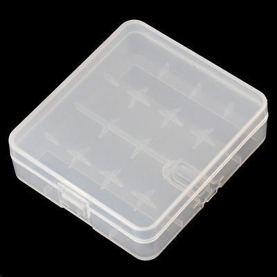 Portable Hard Plastic Battery Case Holder Storage Box for 4 x 18650 Batteries
