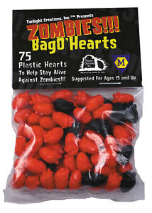 Bag-O-039-Hearts-Small-Plastic-Markers-Tokens-Zombies-TLC-2028-Twilight-Creation