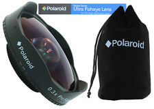 POLAROID HD 0.3X Baby Death 37mm Ultra Fisheye WIDE ANGLE Lens for Camcorders