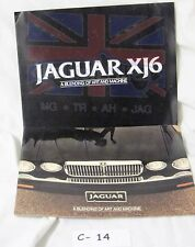 JAGUAR 1982 XJ6 XJ 12 SERIES III SALES BROCHURES