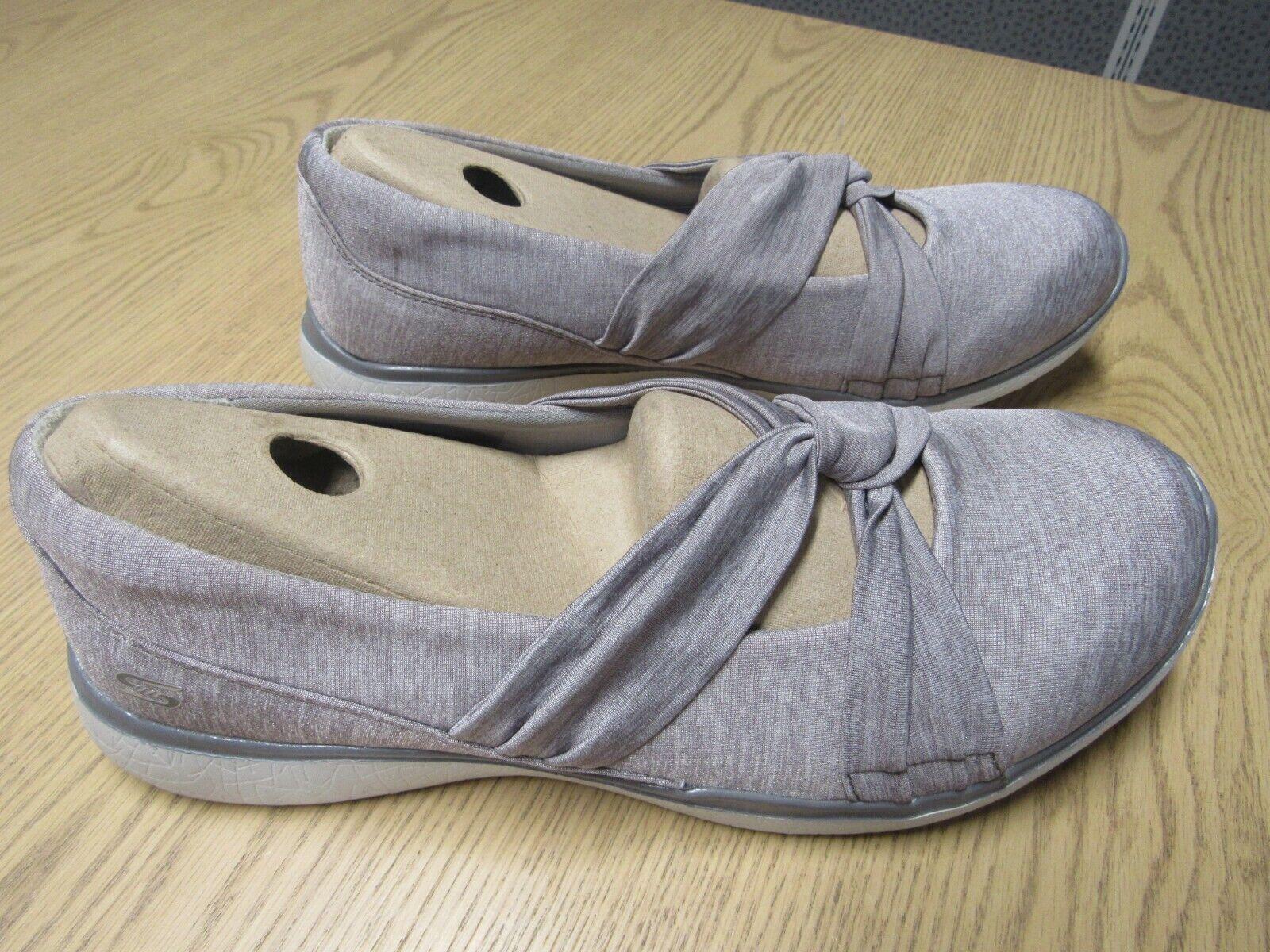 Skechers Heathered Jersey Mary Jane Gray shoes Women's 6
