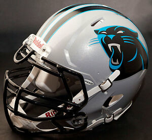 buy online 963f6 90163 Details about CAROLINA PANTHERS NFL Authentic GAMEDAY Football Helmet w/  S3BDU Facemask
