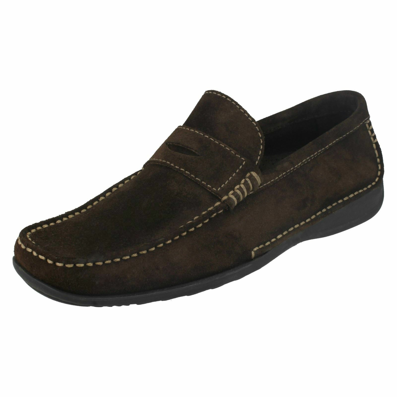 Loake Pour Homme Slip On Mocassin Chaussures-CORTINA