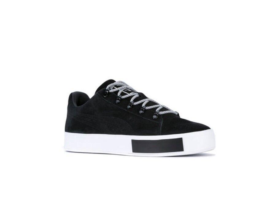 US 11 Puma X Daily Paper Collaboration Platform Suede Limited Shoes Black/White