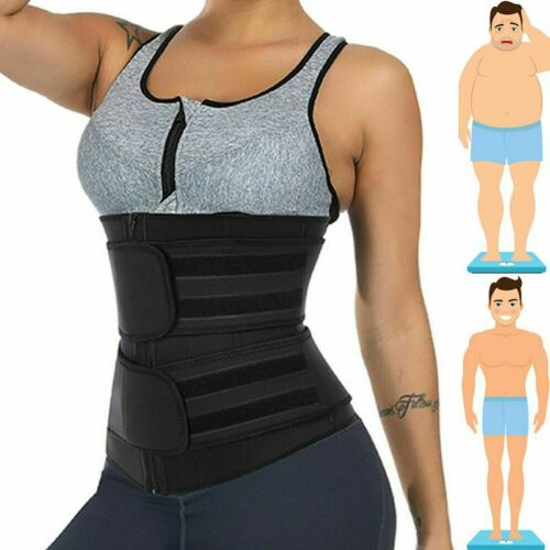 Details about  /Waist Trainer Cincher Trimmer Sweat Belt Fitness Body Shaper Gym Sport Shapewear