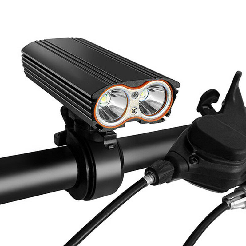 5X(Built-in Battery Usb Rechargeable Bicycle Light Front Bike Light Flashli P1T1