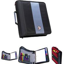 Case It 2 Inch Ring Zipper Binder Black D 251 Blk Single