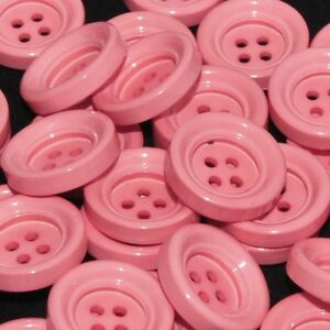 Mercerie Lot de 5 boutons en plastique rose 18mm 22mm ou 26mm button