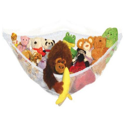Mesh Toy Hammock Net Corner Stuffed Animals Baby Hanging Storage 140*110*110cm