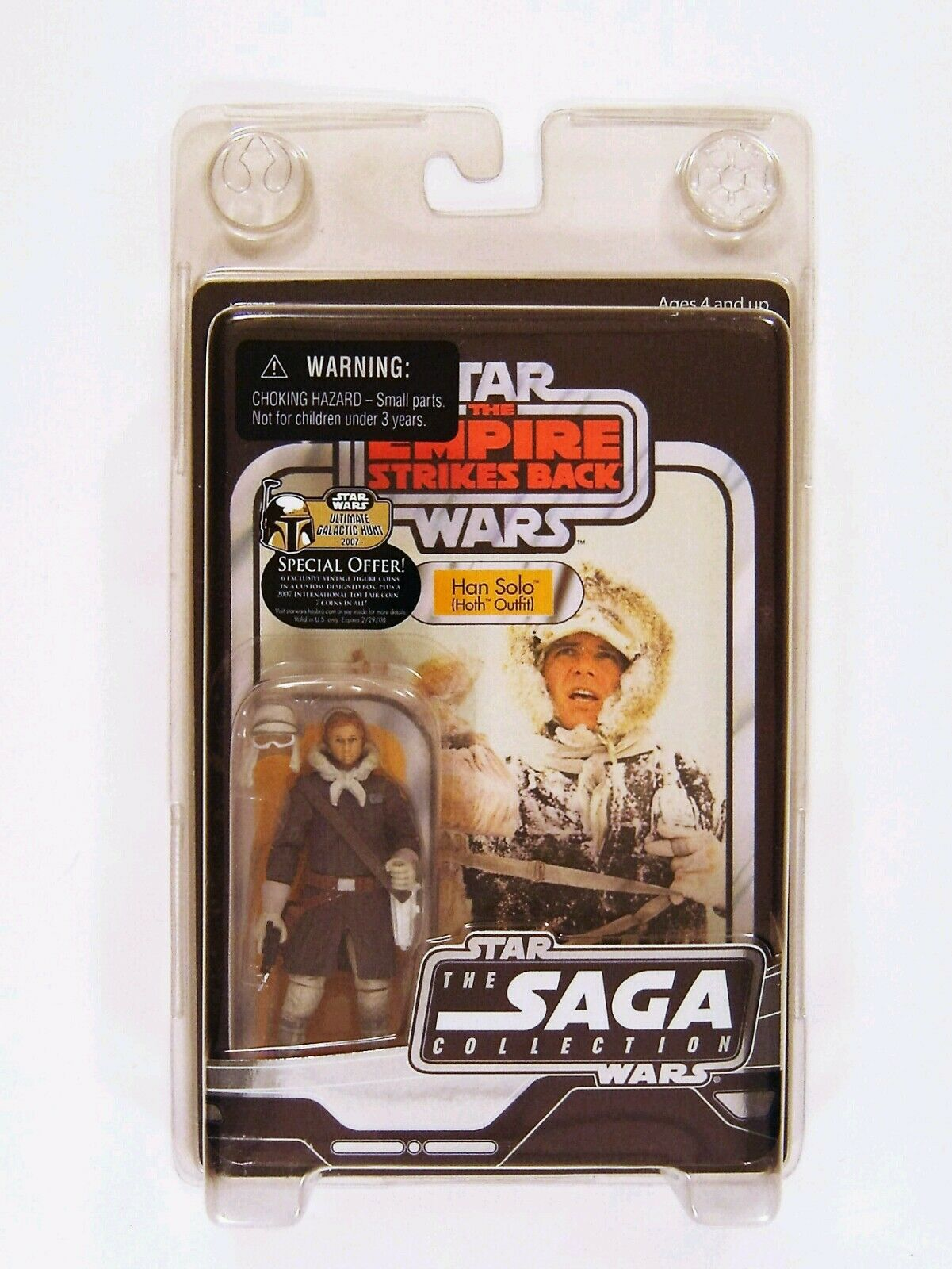 Hasbro Star Wars Vintage Saga Serie ESB Han Solo Hoth Outfit Figur