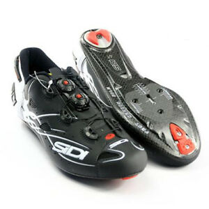 New-SIDI-SHOT-Carbon-Road-Bike-Cycling-Shoes-Matt-Black-White-EU38-47