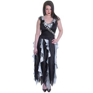 miedo-edulto-ALTO-Escuela-Zombie-Reina-Del-Baile-Disfraz-de-Halloween
