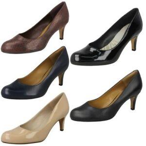 Details about Ladies Clarks Court Shoes Arista Abe