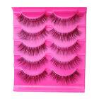 5 Pairs Natural Sparse Cross Eye Lashes Makeup Long Fake False Eyelashes Soft