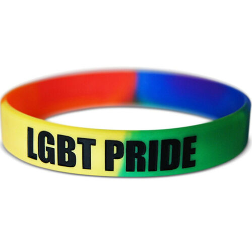 LGBT Wristband Gay Pansexual Asexual Bisexual Genderqueer Genderfluid Non Binary