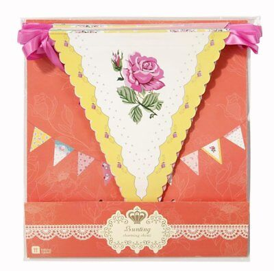Floreale Bunting-truly Scrumptious-compleanno-party-vintage Bunting Decor- Merci Di Convenienza