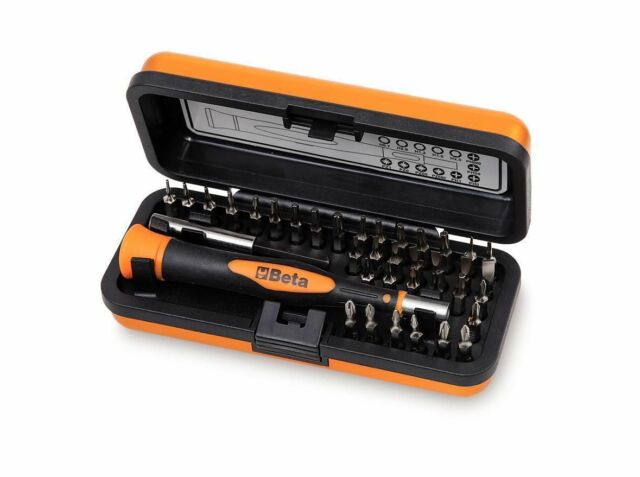 Beta Tool 1256/C36-2  MICRO SCREWDRIVER SEt With 32 Interchangeable Bits in Case