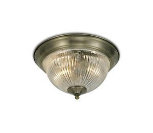 Art-Deco-Flush-Bathroom-Ceiling-Light-With-Clear-Glass-Diffuser-IP44-Flush-2xLED