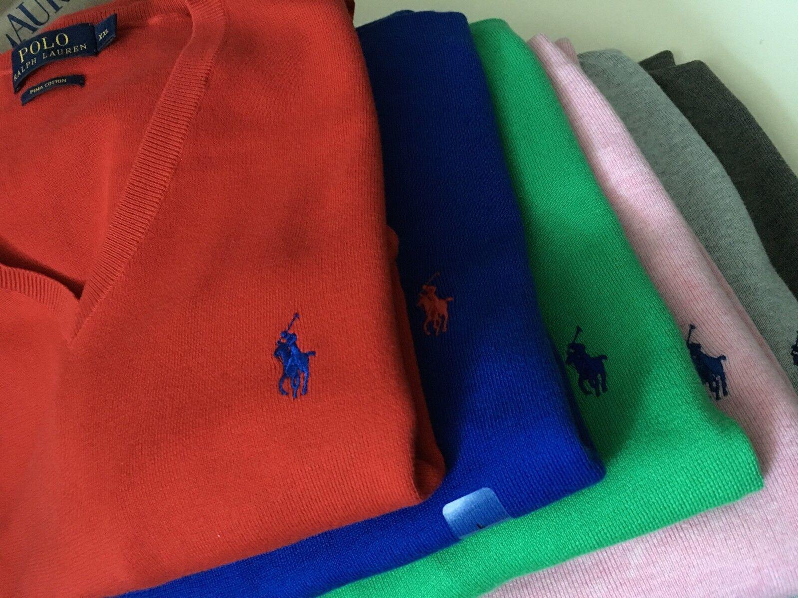 GENUINE Ralph Lauren Polo  Men's  Long Sleeve Pima Cotton Jumper PRP