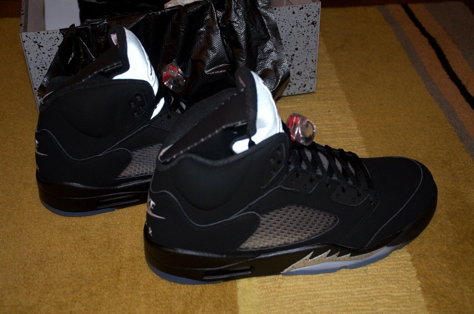 new styles 790d3 60c79 ... norway nike air jordan 5 retro og size brand 13 nero fire red brand  size new