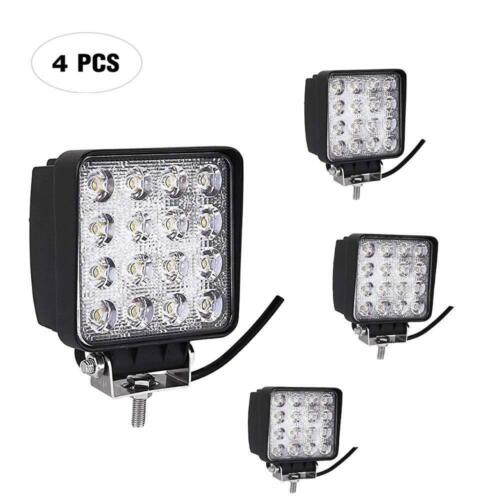 4Pcs 48W High Power LED Work Light Spot Pod Fog Lamp Car Offroad ATV 4WD 12V 24V