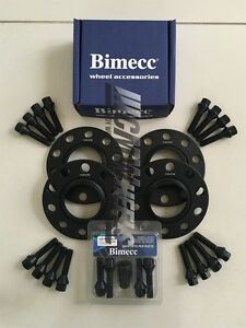 Bimecc 15mm Black Hubcentric Wheel Spacers /& Wheel Bolts BMW M3 F80 14