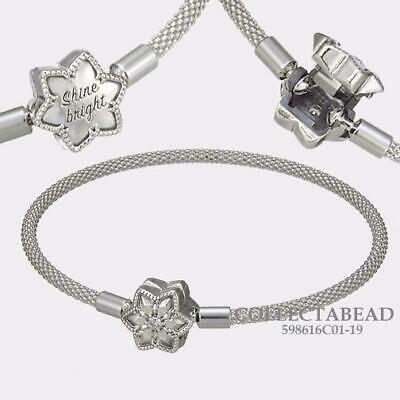 Authentic Pandora Silver Shine Bright Snowflake Charm Bracelet 598616C01-17  | eBay