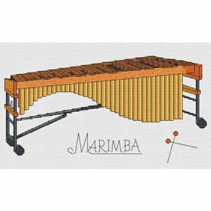 Marimba-Cross-Stitch-Design-W254mm-X-H153mm-W10-034-X-H6-034-kit-o-el-cuadro
