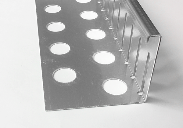 Sparset 6 St Kiesfangleiste Aluminium Gelochte Kiesleiste Balkon 3-fach gekantet