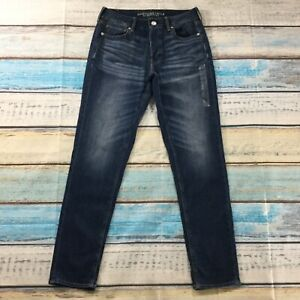 American-Eagle-Womens-Jeans-size-8-Long-Tall-Dark-Wash-Tomgirl-Cotton-Stretch-33