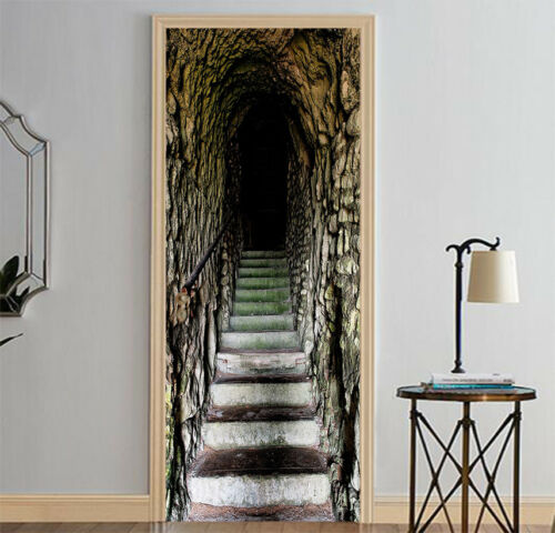 3D Aisle Stairs 50 Wall Stickers Vinyl Murals Wall Print Deco AJSTORE UK Kyra