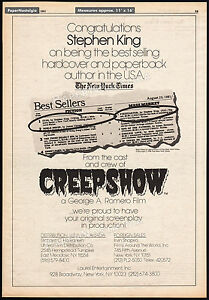 CREEPSHOW__Original 1981 Trade AD_poster__Screenplay In Production__STEPHEN KING